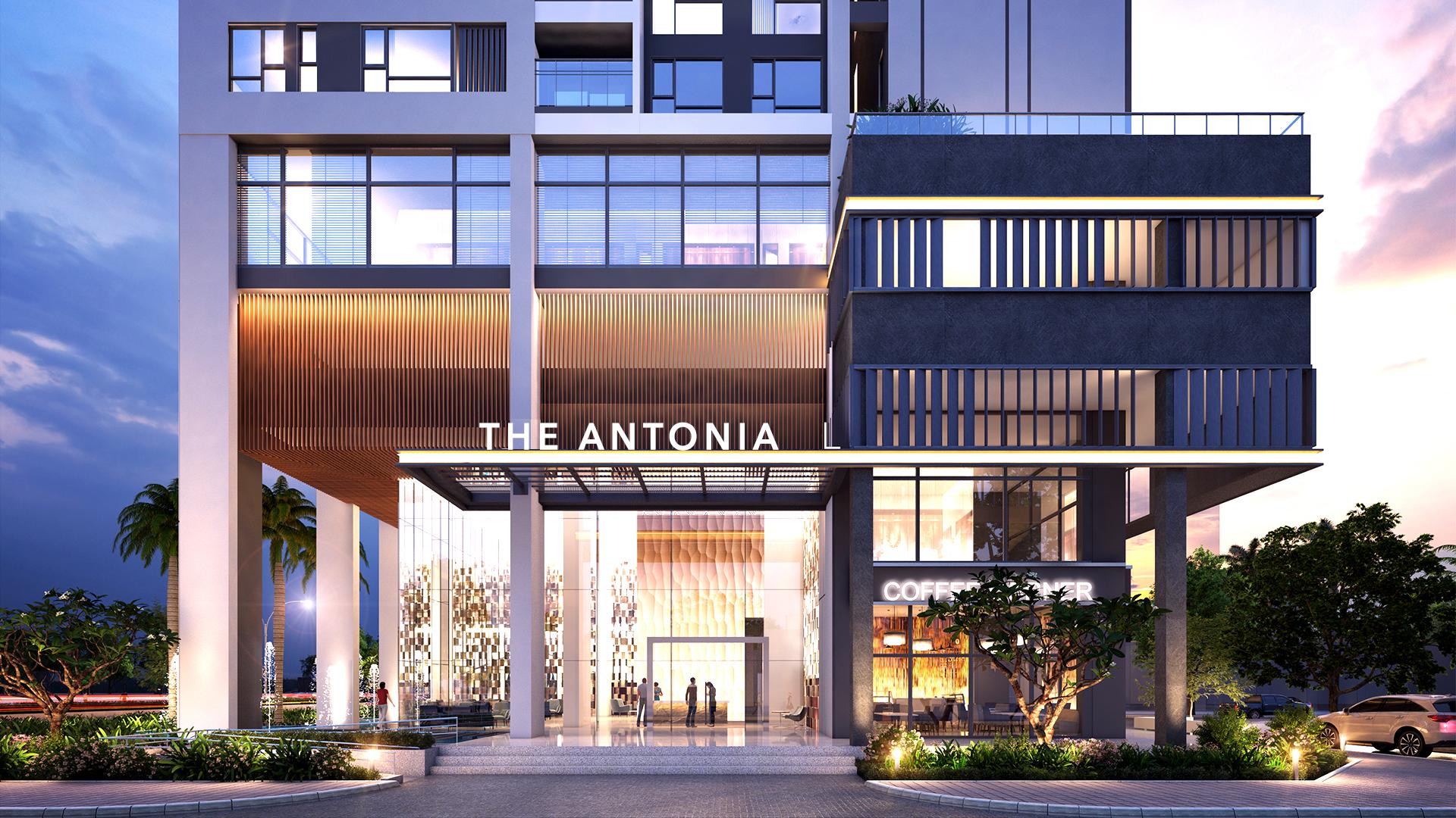 sảnh lobby căn hộ the antonia