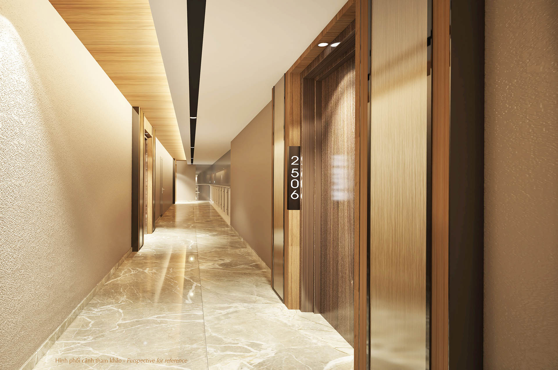 hành lang căn hộ the ascentia