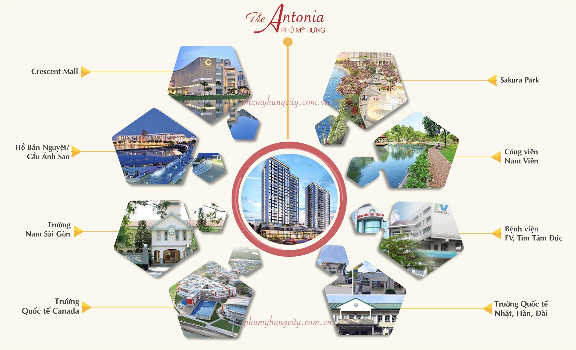 liên kết vùng dự án the antonia