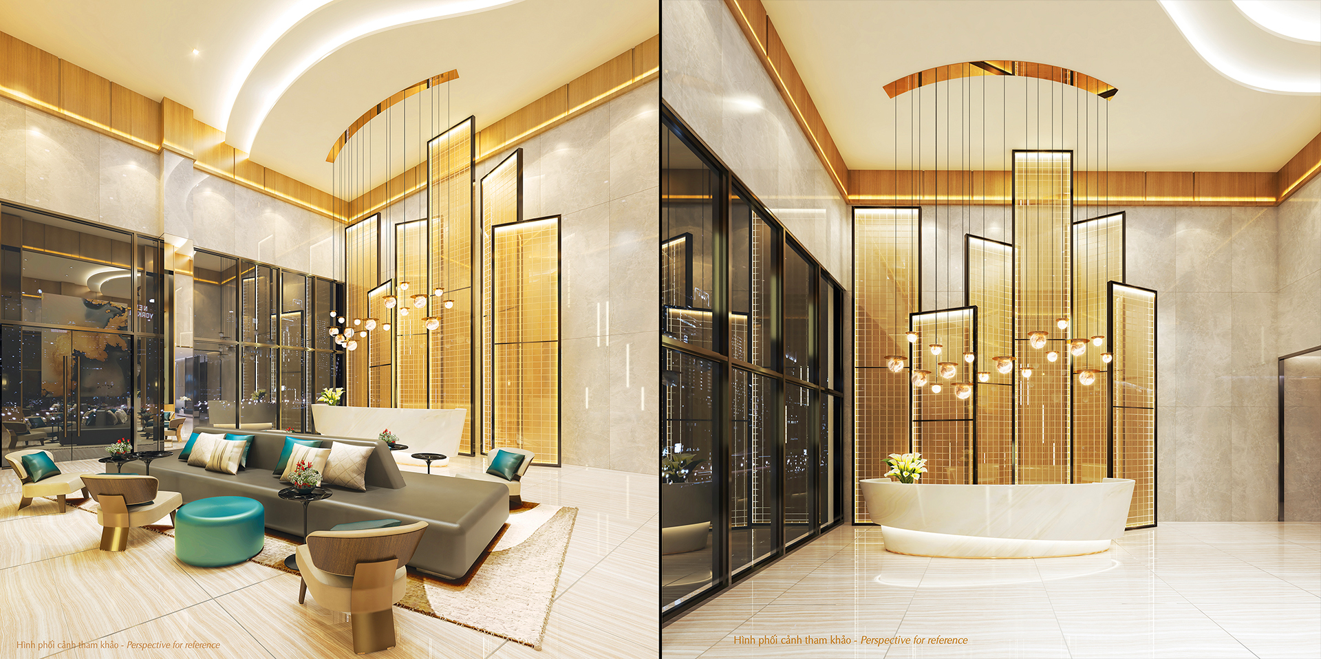 lobby căn hộ the ascentia