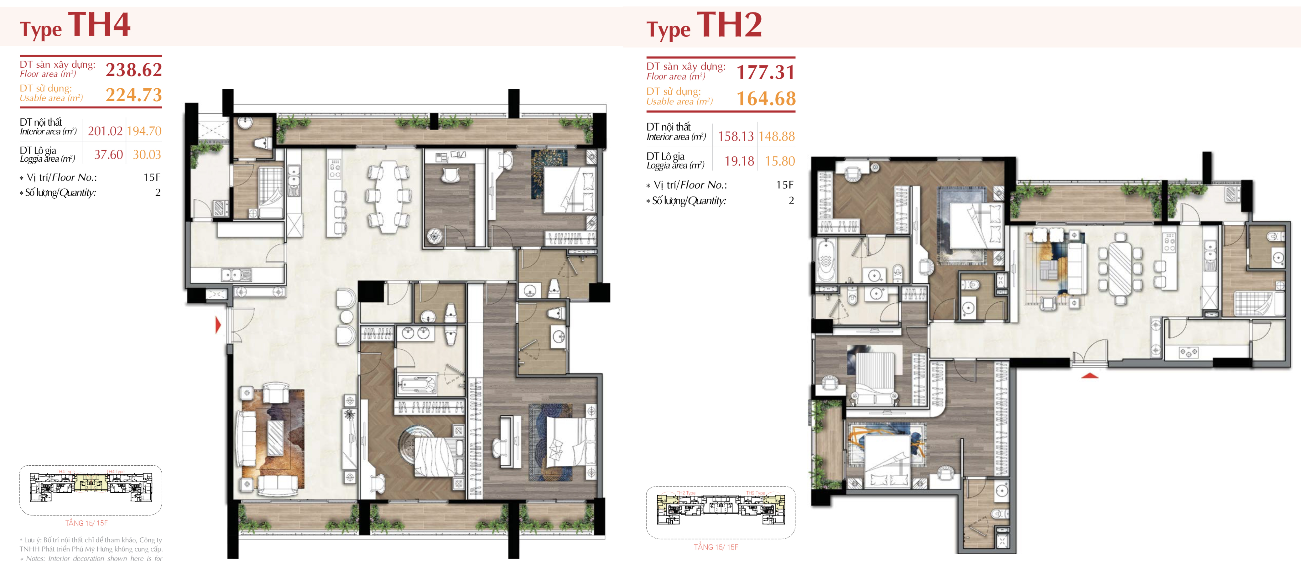 mặt bằng penthouse dự án the ascentia