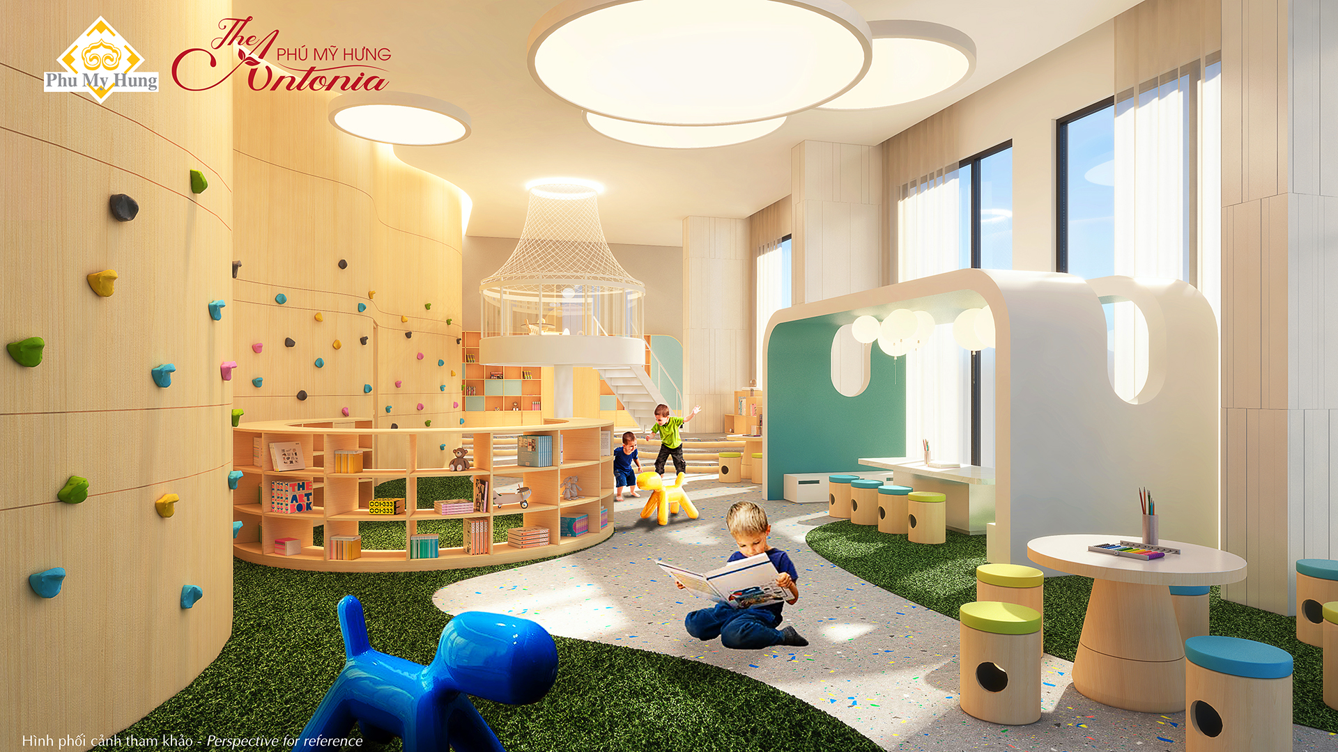 phòng trẻ em căn hộ the antonia