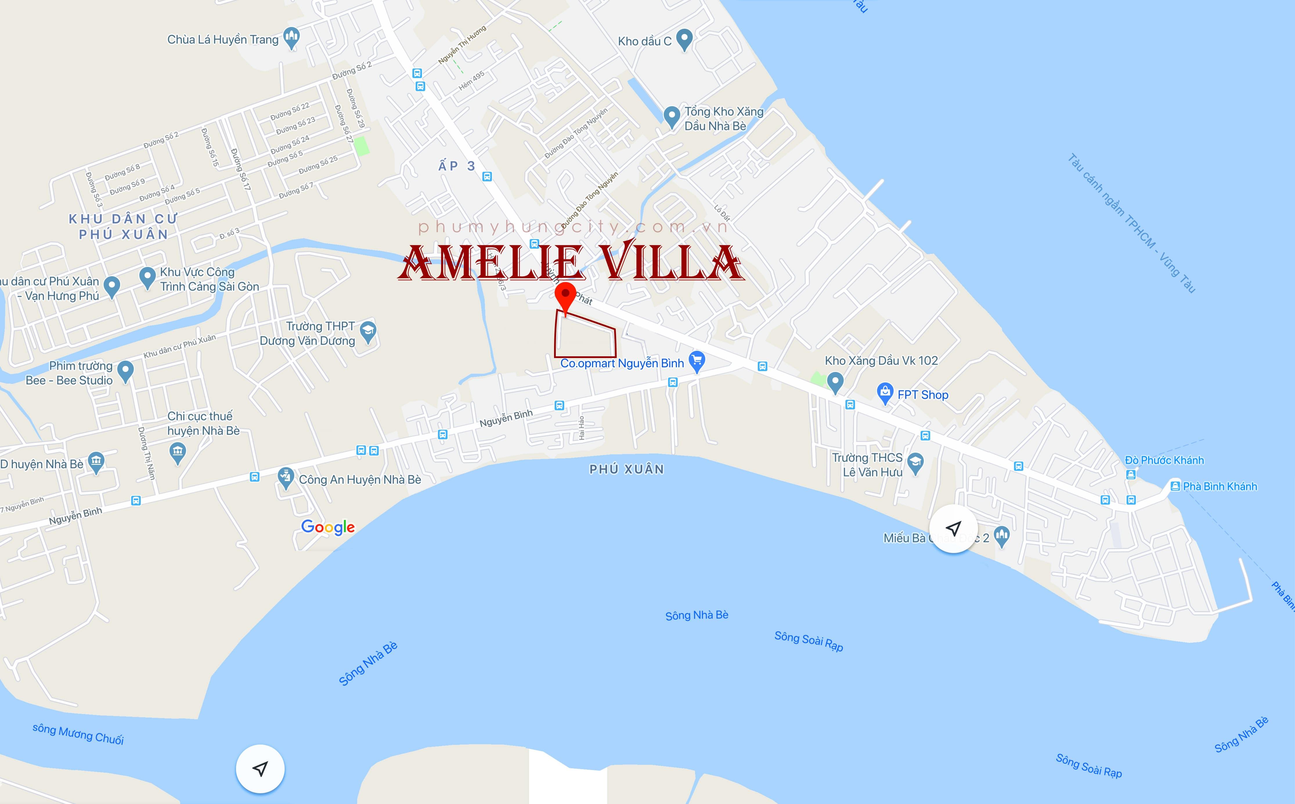 vi tri du an amelie villa